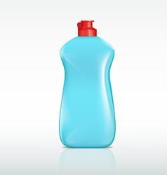 plastic bottle of detergent vector image
