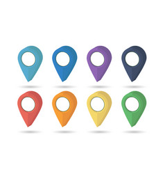 pointer map set pin location icons pointers icon vector image