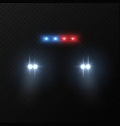 police car headlights patrol police car with vector image