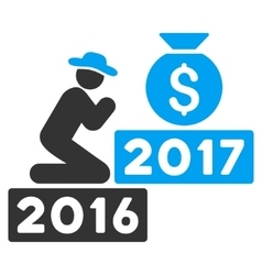 Pray For Money 2017 Flat Icon vector image