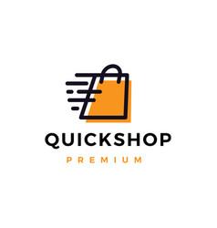 Quick shop store logo icon vector