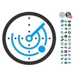 Radar Icon With Free Bonus vector image