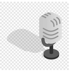 Retro microphone isometric icon vector