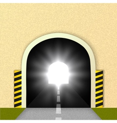 Road tunnel glare headlights vector