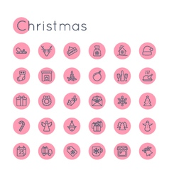 Round Christmas Icons vector image vector image
