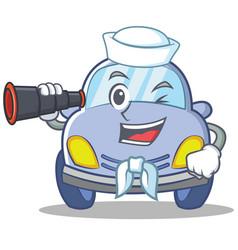 Sailor cute car character cartoon vector