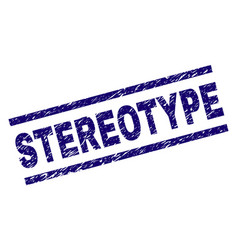 Scratched textured stereotype stamp seal vector