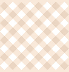 seamless beige and white background - checkered vector image