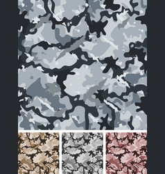 Seamless complex military night camouflage vector