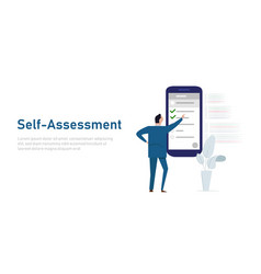 Self assessment concept personal review vector