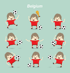 set character actions belgium national football vector image