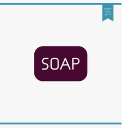 soap icon simple vector image