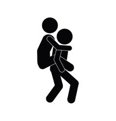 solidarity pictogram icon vector image