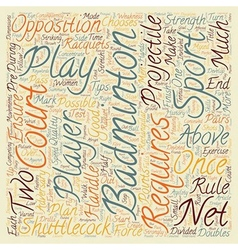 Some Tips For Badminton text background wordcloud vector