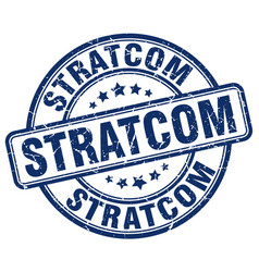 Stratcom blue grunge stamp vector