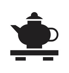 Teapot chinese new year related solid icon vector