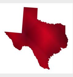 Texas silhouette map vector