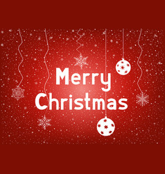 Text merry christmas with snowflakes vector