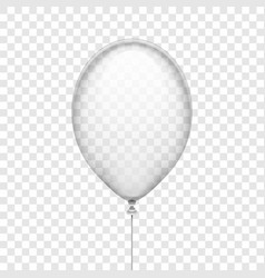 transparent white rubber balloon isolated on vector image