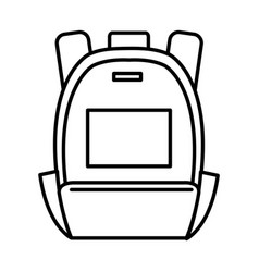 Travel bag isolated icon vector