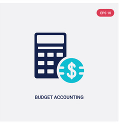 two color budget accounting icon from vector image