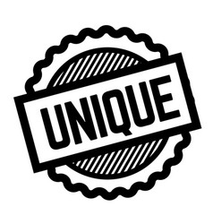 unique black stamp vector image