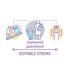 Unplanned parenthood concept icon single vector
