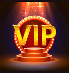 vip podium with lighting vector image