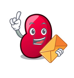 with envelope jelly bean character cartoon vector image