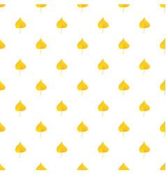 yellow birch leaf pattern seamless vector image