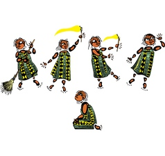 Young african girl vector