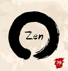 Zen circle traditional enso vector image
