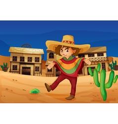 a mexican girl vector image