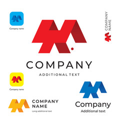 abstract modern logo design and construction vector image vector image