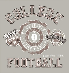 american college athletic football vector image vector image