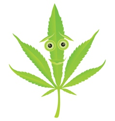 cannabis leaf character vector image vector image