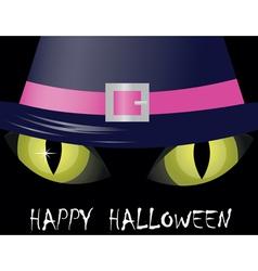 cat eyes halloween vector image vector image