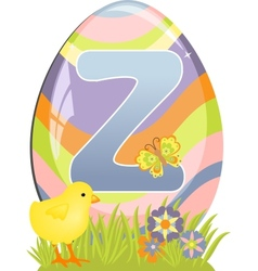 Cute initial letter Z vector image