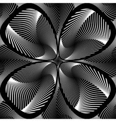Design monochrome decorative flower background vector image vector image