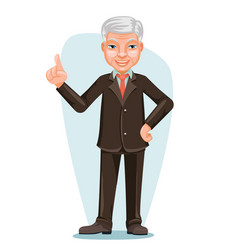 elderly asian businessman chinese japanese vector image vector image