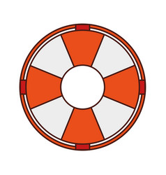 float lifeguard isolated icon vector image vector image