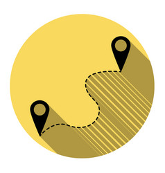 location pin navigation map gps sign vector image vector image