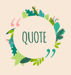 Quote blank template spring design elements with vector