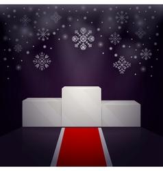 Sport winners pedestal winter theme vector image