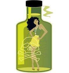 Toxic Woman vector image vector image