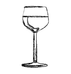 blurred silhouette wine drink cocktail glass vector image