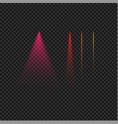 Colorful street lighr beams set vector