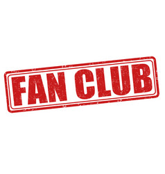 fan club stamp vector image