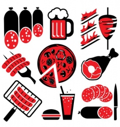 food barbecue vector image vector image