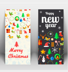 holidays greeting cards vector image vector image